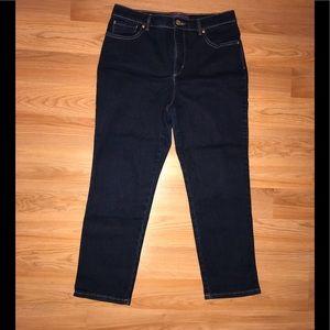Gloria Vanderbilt Deep Blue Denim Jeans; Amanda